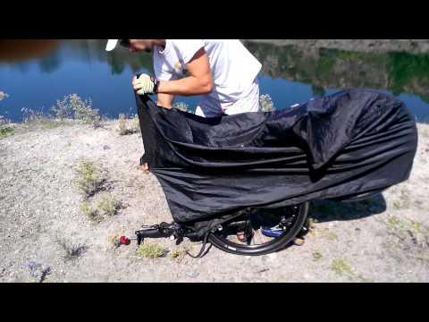 Чехол для транспортировки велосипеда в транспорте.