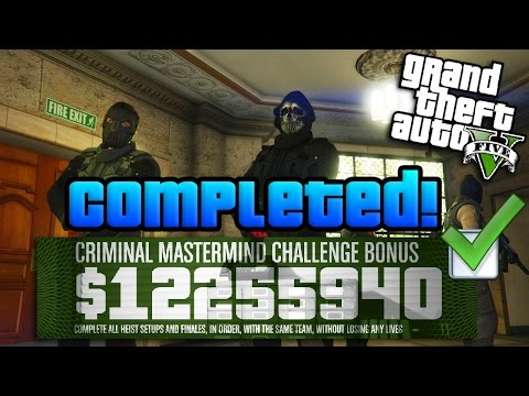 GTA Online: $10 Million Heists Challenge COMPLETED W/ Best Tips! (GTA 5 Criminal Mastermind Guide)
