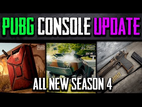 pubg-xbox-ps4-|-new-vehicle-&-weapon-|-season-4-|-update-|-patch-review