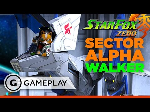 Star Fox Zero - Walker Gameplay