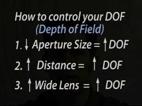 Depth of Field - The Three Rules | Photography | DOF |Camera