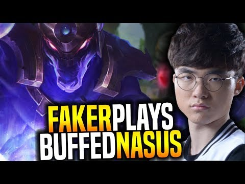 Faker Wants to Play Nasus! - SKT T1 Faker SoloQ Playing New Buffed Nasus Toplane! | SKT T1 Replays