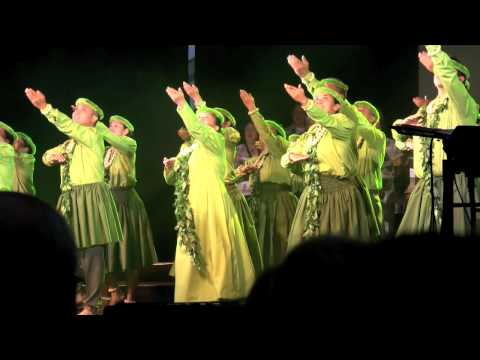 (HD) Choir and Hula Performance at Father Damien Ceremony in Tremelo, Belgium