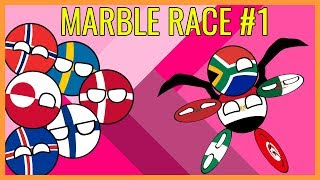 ALL COUNTRIES MARBLE RACE Countryballs Winter Olympics #1 PyeongChang 2018 | Marble Race