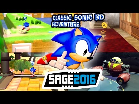 Classic Sonic 3D Adventure - SAGE 2016 #7 [FULL GAMEPLAY]