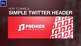 Photoshop Tutorial - How to Make a Simple Twitter Header