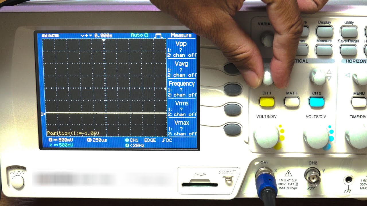 hight resolution of dc voltage measurement using oscilloscope