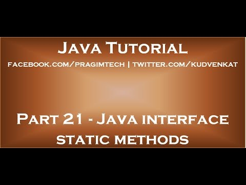 Java interface static methods