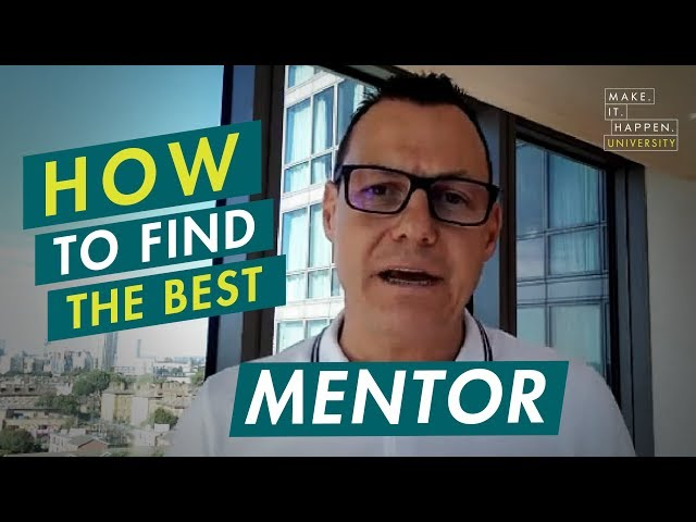 How to find the best mentor