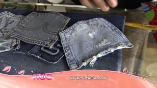 Veja como montar um porta treco feito com bolsos de calça jeans