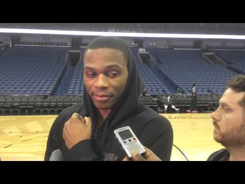 Westbrook: Shootaround in New Orleans
