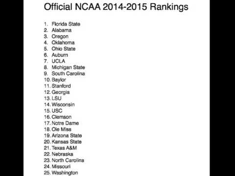 College The College Football Rankings