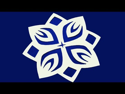 Paper Cutting  design -How to make Easy paper cutting Flowers ? kirigami-DIY Tutorial step by step.