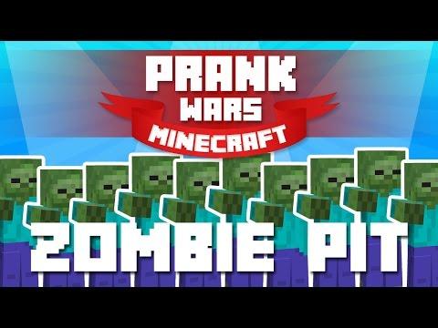 Minecraft Prank Wars #9 - ZOMBIE PIT PRANK