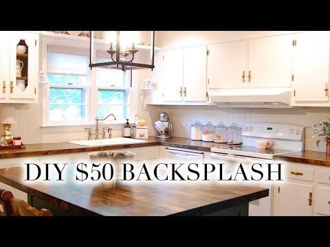 DIY $50 BACKSPLASH | Easy Paneled V-Groove