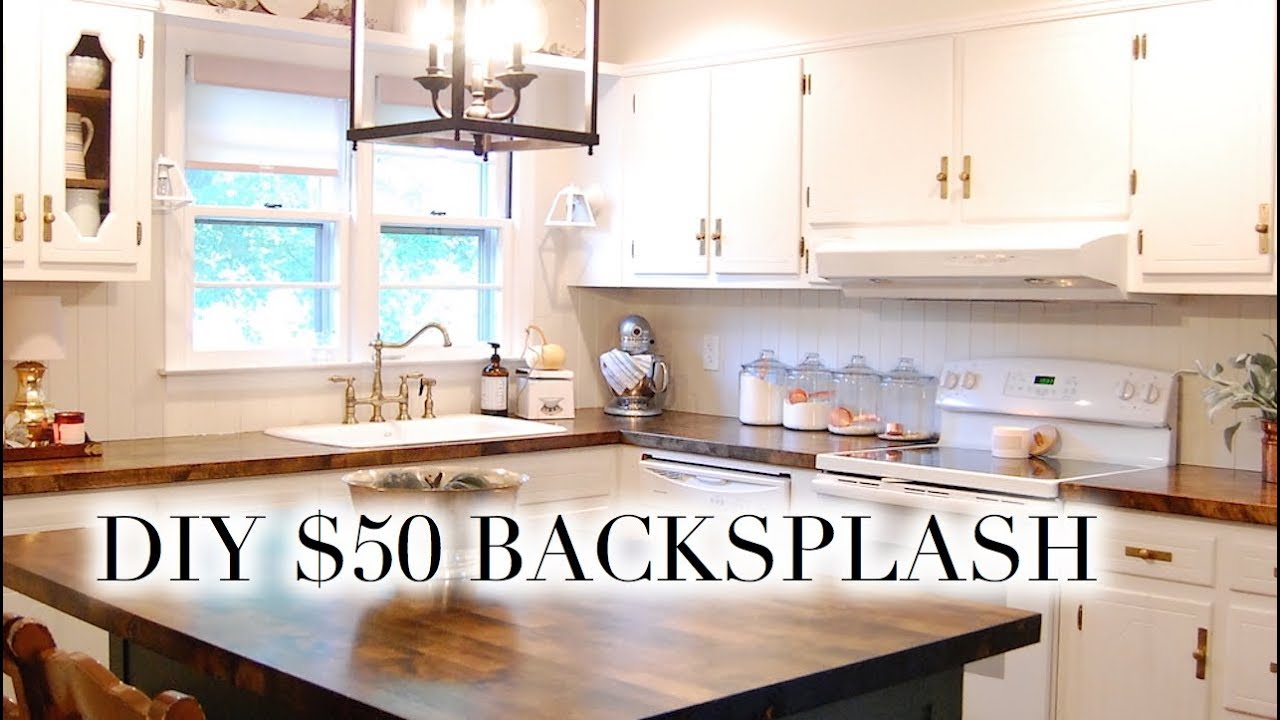 - DIY $50 BACKSPLASH Easy Paneled V-Groove - YouTube
