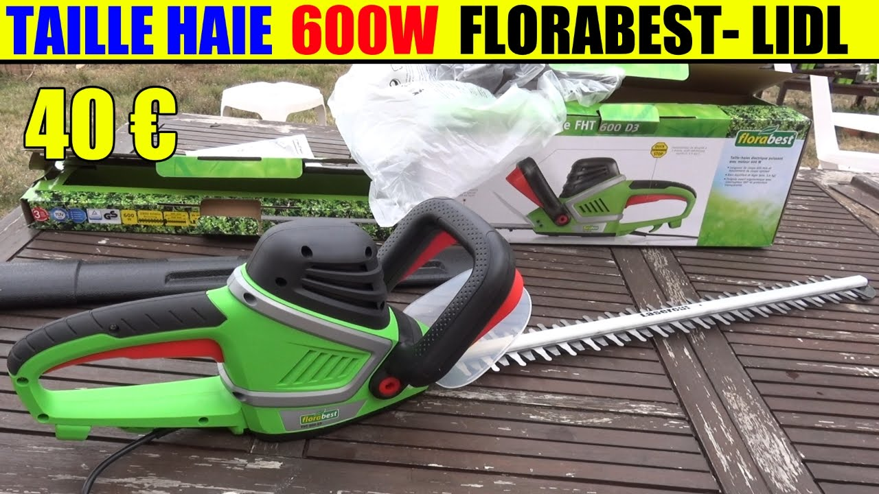 taille haie lidl florabest fht 600w hedge trimmer heckenschere youtube. Black Bedroom Furniture Sets. Home Design Ideas