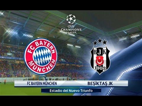 Bayern Munchen Vs Besiktas Uefa Champions League  Gameplay Pes