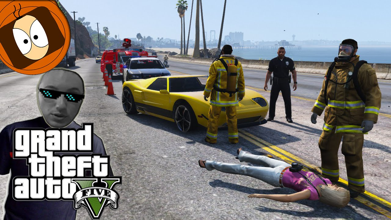 pompier accident de la route du futur gta 5 pompiers mod youtube. Black Bedroom Furniture Sets. Home Design Ideas
