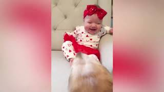 Baby and Dog Fun and Fails - Funny Baby Video
