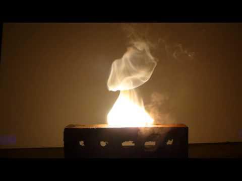 Burning Magnesium Metal