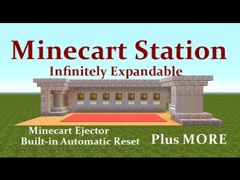 Minecraft Tutorial : Minecart Station, Infinitely Expandable, Auto Reset Plus MORE...