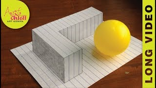 How to Draw 3D Letter L - Draw the Letter L in 3D - 3D Drawing - Easy Trick Art - LONG VIDEO -