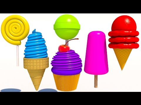 Thumbnail: Learn Colors with 3D Delicious Ice Cream Lollipops for Kids and Children