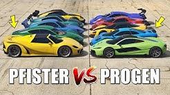 GTA 5 ONLINE - PFISTER VS PROGEN (WHICH IS FASTEST?)