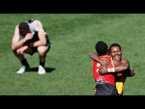 New Zealand pipped by Papua New Guinea in final of AFL International Cup at MCG