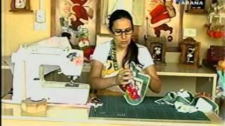 Avental de Natal com Estela Junqueira