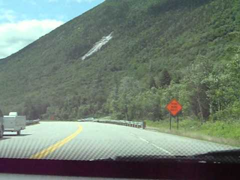 Driving through Crawford Notch Rt 302 to the Wiley House White Mountains NH