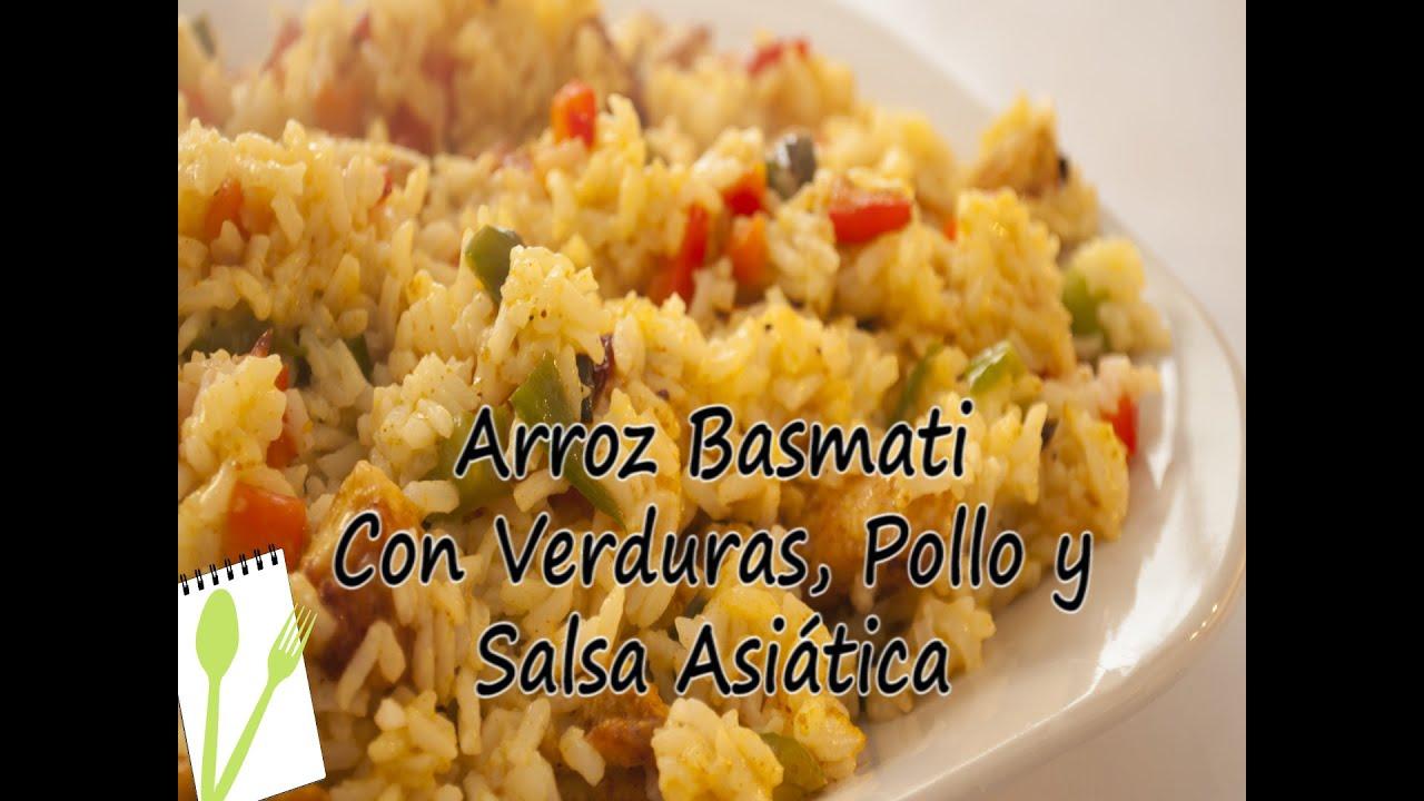 Arroz basmati con verduras pollo y salsa asi tica - Cocimax recetas ...
