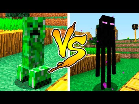 MINECRAFT - CREEPER VS ENDERMAN BATTLE in Minecraft