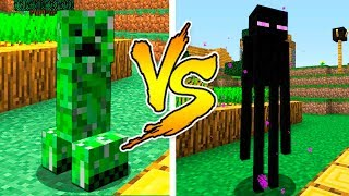 MINECRAFT - CREEPER VS ENDERMAN BATTLE in Minecraft thumbnail