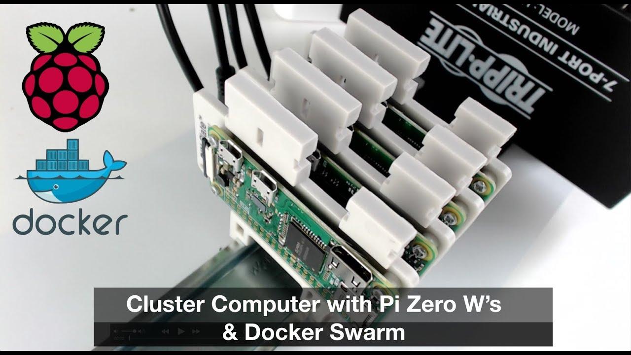 Cluster Computer with Raspberry Pi Zero's & Docker Swarm Mode