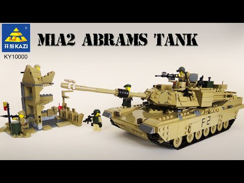 M1A2 ABRAMS TANK By KAZI - US ARMY - Unofficial Lego From Aliexpress (KY10000 Build Instructions)