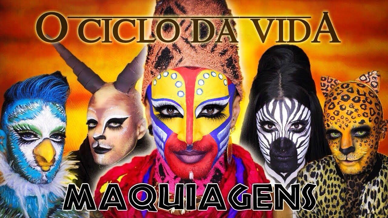 O CICLO DA VIDA ☀️ O REI LEÃO - 5 MAQUIAGENS EP1| Victor Nogueira
