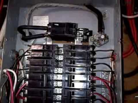 Cable Main Fuse Box Deteriorated Old 100 Amp Ceb Breaker Panel Youtube