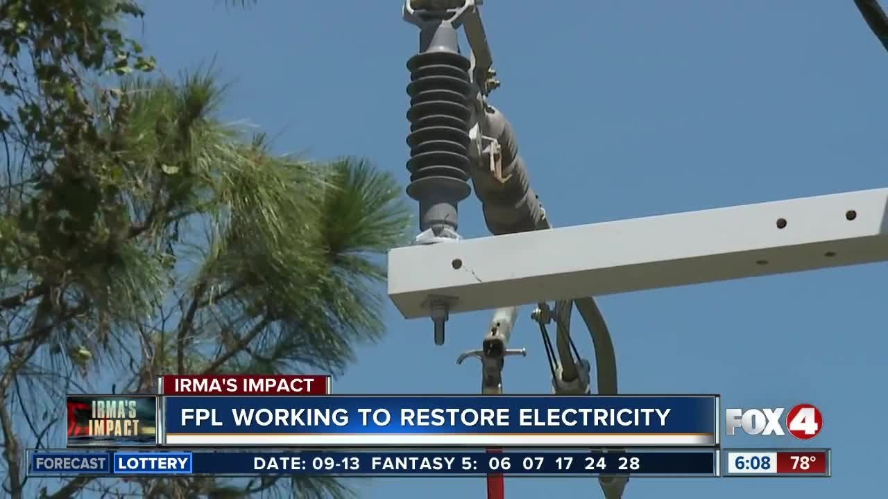 Fpl Working Around The Clock To Restore Power Youtube