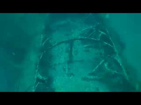 german-u-boat,-u-352---underwater-footage