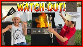 """Kayla and Tyler BBQ for mom and dad! Are they successful? Subscribe for more! http://bit.ly/2bZ6m0i Visit the """"We Are The Davises"""" online store for exclusive ..."""