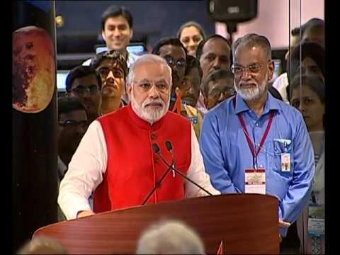 PM witnesses insertion of Mars Orbiter Mission into Martian orbit at ISRO (Full event)