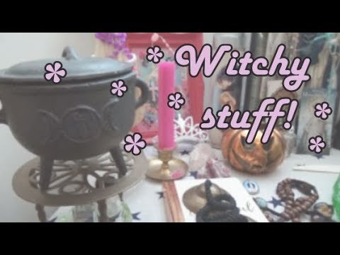 Tour of a Witch's Altar | Rosaries, Crystals and a Haunted Nun!
