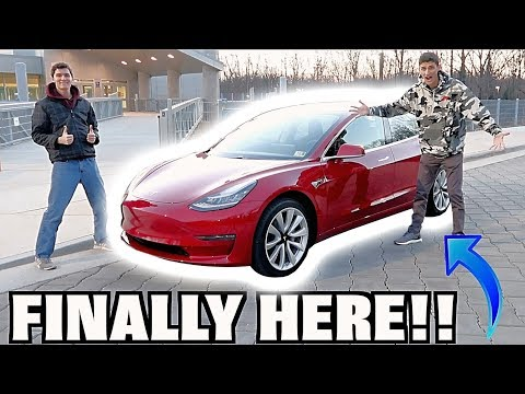 Taking Delivery Of My Tesla Model 3! New Car Reveal!!