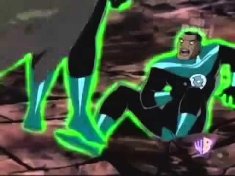 "Static Shock   Static vs Green Lanturn and Green Lanturn vs Sinestro In ""Fallen Hero"""