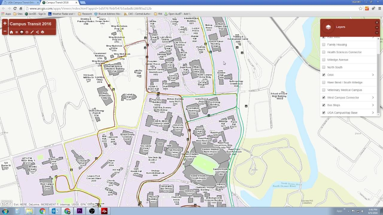 Campus Transit Map 1 - The Basics
