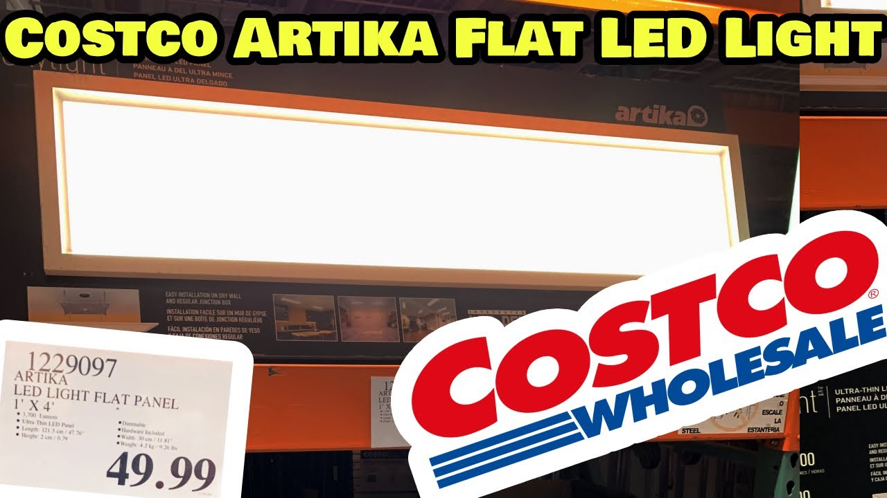 costco artika skylight led panel light review and install