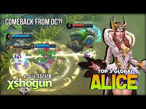 Divine Owl Perfect Burn Enemy HP! χshogun Top 3 Global Alice ~ Mobile Legends