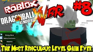 THE MOST RIDICULOUS LEVEL GAIN EVER! | Roblox: Dragon Ball Xenoverse BR - Episode 8